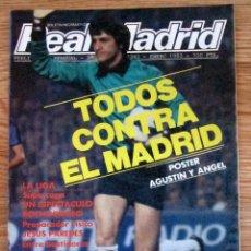 Coleccionismo deportivo: REVISTA BOLETIN INFORMATIVO REAL MADRID 392 POSTER CENTRAL AGUSTIN ANGEL. Lote 162512722