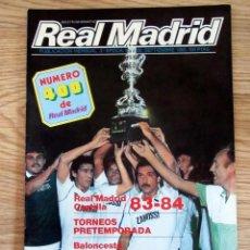 Coleccionismo deportivo: REVISTA BOLETIN INFORMATIVO REAL MADRID 400 POSTER SELECCION BALONCESTO FERNANDO MARTIN. Lote 162513734