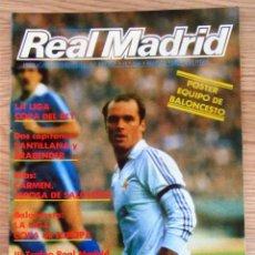 Coleccionismo deportivo: REVISTA BOLETIN INFORMATIVO REAL MADRID 394 METGOD SANTILLANA POSTER BALONCESTO FERNANDO MARTIN. Lote 162514178