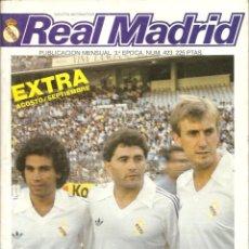 Coleccionismo deportivo: REVISTA-BOLETÍN, REAL MADRID, EXTRA AGOSTO-SEPTIEMBRE DE 1985, VER FOTOS. Lote 162727866