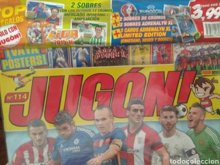 Coleccionismo deportivo: JUGÓN número 114 PRECINTADA + MERCADO INVIERNO + SOBRES + LIMITADAS - Foto 2 - 162902004