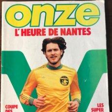 Coleccionismo deportivo: REVISTA FUTBOL ONZE #52 04-1980 NO POSTER BUEN ESTADO KRANKL VALENCIA INTER MILAN. Lote 163031234