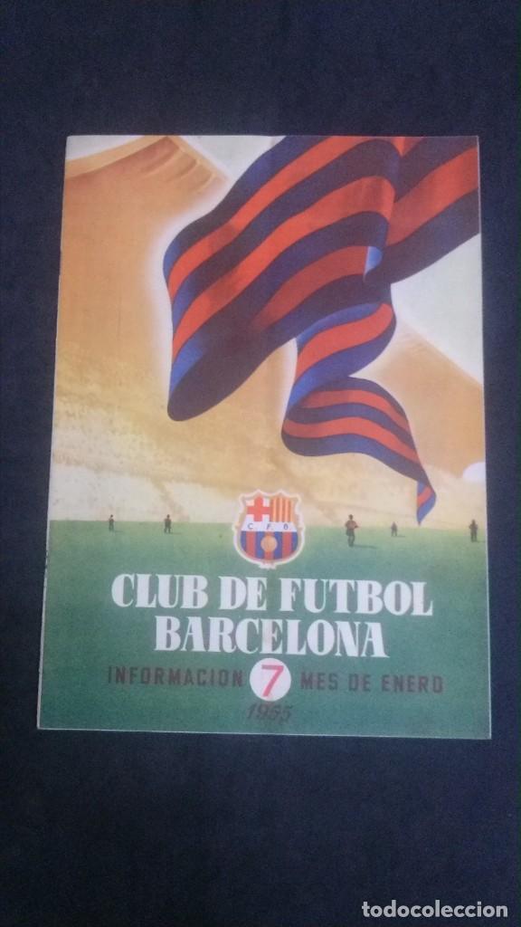 REVISTA CLUB DE FUTBOL BARCELONA-ENERO 1955 (Coleccionismo Deportivo - Revistas y Periódicos - otros Fútbol)