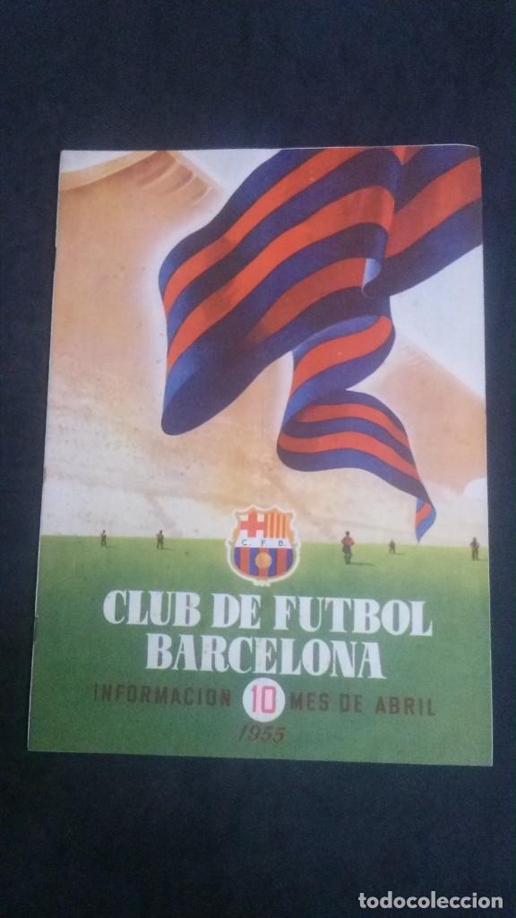 REVISTA CLUB DE FUTBOL BARCELONA-ABRIL 1955 (Coleccionismo Deportivo - Revistas y Periódicos - otros Fútbol)