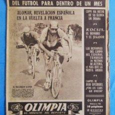 Coleccionismo deportivo: OLIMPIA. AL SERVICIO DEL DEPORTE. 5 REVISTAS. 1952 - 1954. SUPLEMENTO DE SOLIDARIDAD NACIONAL. Lote 164480194