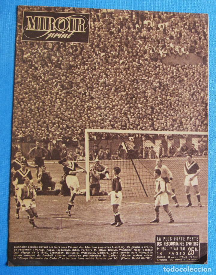 Coleccionismo deportivo: MIROIR SPRINT. 2 EJEMPLARES, Nº 176 Y 256. 1949 Y 1951. - Foto 3 - 164523314