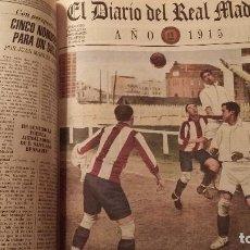 Coleccionismo deportivo: REAL MADRID C.F COLECCION HISTORICA - MATERIAL DIVERSO ( PERIODICOS, POSTER, LAMINAS). Lote 164738194