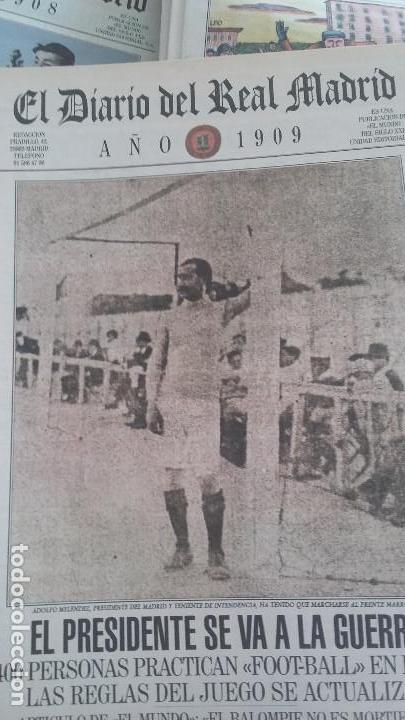 Coleccionismo deportivo: REAL MADRID C.F COLECCION HISTORICA - MATERIAL DIVERSO ( PERIODICOS, POSTER, LAMINAS) - Foto 6 - 164738194