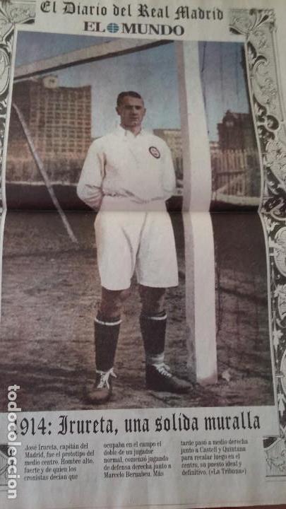 Coleccionismo deportivo: REAL MADRID C.F COLECCION HISTORICA - MATERIAL DIVERSO ( PERIODICOS, POSTER, LAMINAS) - Foto 7 - 164738194