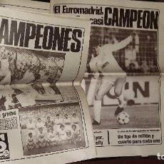 Coleccionismo deportivo: REAL MADRID - COLECCION PERIODICOS HISTORICOS AÑOS 80 - GLORIAS Y HAZAÑAS. Lote 164801590