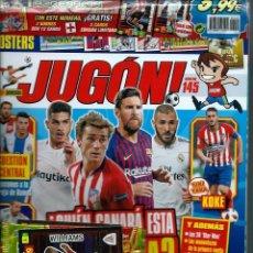Coleccionismo deportivo: JUGON Nº 145 SIN DESPRECINTAR - CON 2 CARDS EDICIONS LIMITADA LIGA 2018-19 Y DIVERSOS SOBRES - NUEVA. Lote 164959058