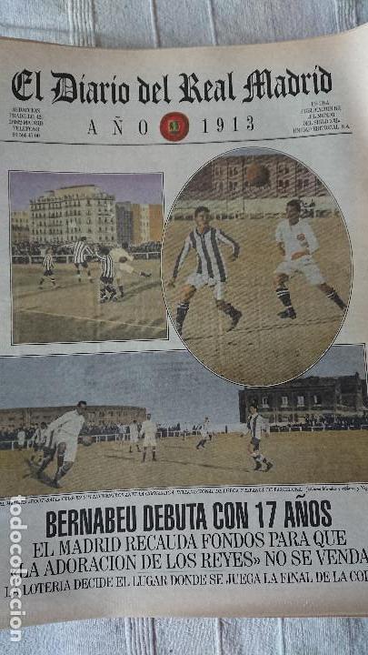 Coleccionismo deportivo: EL DIARIO DEL REAL MADRID CENTENARIO DEL REAL MADRID 1902 - 2002 - Foto 3 - 165203210