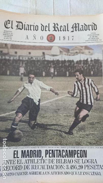 Coleccionismo deportivo: EL DIARIO DEL REAL MADRID CENTENARIO DEL REAL MADRID 1902 - 2002 - Foto 4 - 165203210