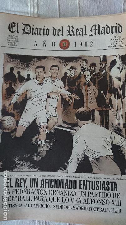Coleccionismo deportivo: EL DIARIO DEL REAL MADRID CENTENARIO DEL REAL MADRID 1902 - 2002 - Foto 2 - 165203210