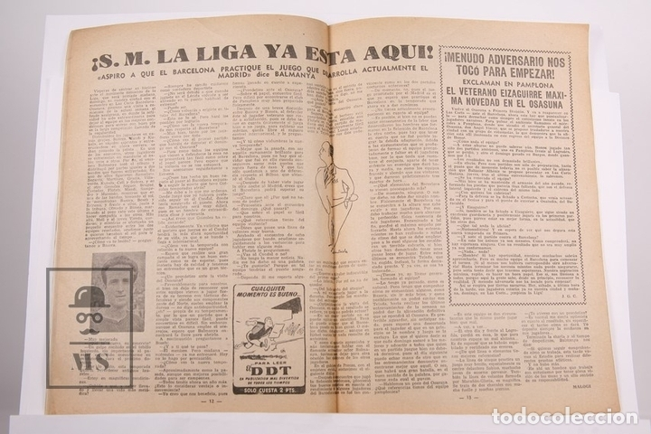 Coleccionismo deportivo: Revista / Publicación De Fútbol - Dicen - 1956, Nº 204 - Kubala F.C Barcelona - Foto 2 - 165352389