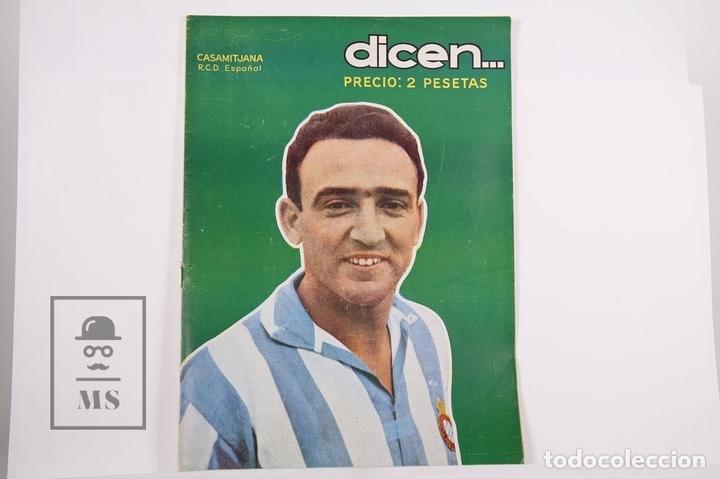 REVISTA / PUBLICACIÓN DE FÚTBOL - DICEN - 1956, Nº 206 - CASAMITJANA R.C.D ESPAÑOL (Coleccionismo Deportivo - Revistas y Periódicos - otros Fútbol)