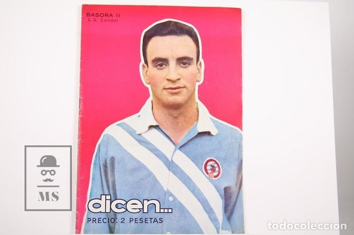 REVISTA / PUBLICACIÓN DE FÚTBOL - DICEN - 1956, Nº 208 - BASORA II C.D CONDAL (Coleccionismo Deportivo - Revistas y Periódicos - otros Fútbol)