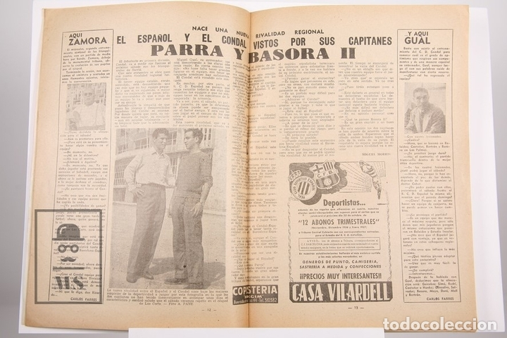 Coleccionismo deportivo: Revista / Publicación De Fútbol - Dicen - 1956, Nº 208 - Basora II C.D Condal - Foto 2 - 165352758