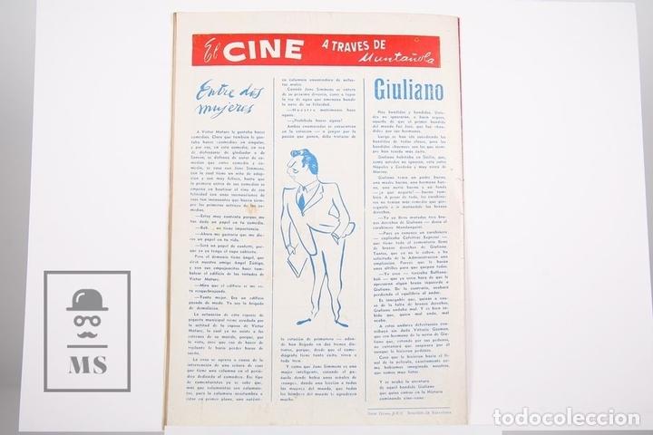 Coleccionismo deportivo: Revista / Publicación De Fútbol - Dicen - 1956, Nº 208 - Basora II C.D Condal - Foto 3 - 165352758