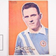 Coleccionismo deportivo - Revista / Publicación De Fútbol - Dicen - 1956, Nº 212 - Rodri C.D. Condal - 165352902
