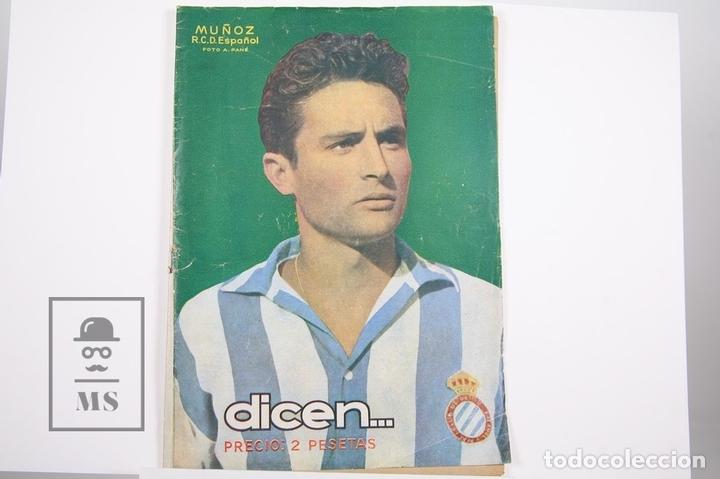 REVISTA / PUBLICACIÓN DE FÚTBOL - DICEN - 1956, Nº 219 - MUÑOZ R.C.D. ESPAÑOL (Coleccionismo Deportivo - Revistas y Periódicos - otros Fútbol)