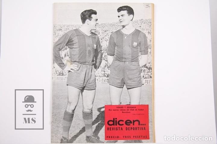 REVISTA / PUBLICACIÓN DE FÚTBOL - DICEN - 1957, Nº 223 - VERGES Y GENSANA F. C. BARCELONA (Coleccionismo Deportivo - Revistas y Periódicos - otros Fútbol)