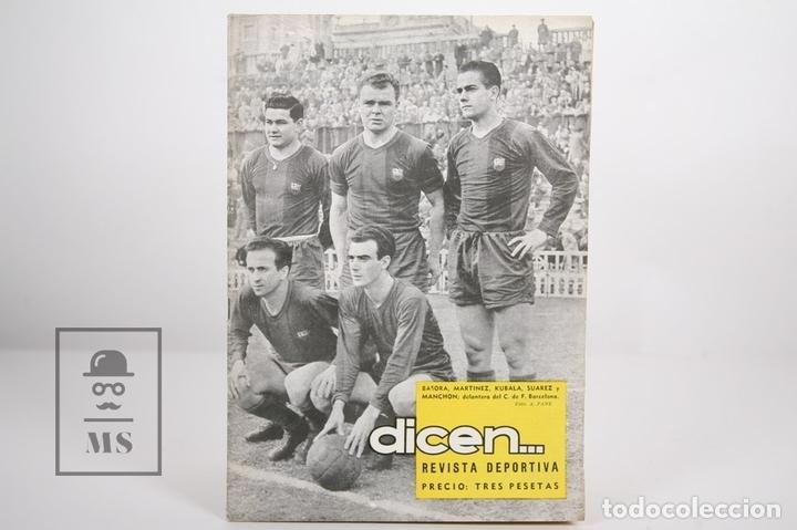 REVISTA / PUBLICACIÓN DE FÚTBOL - DICEN - 1957, Nº 226 - BASORA, KUBALA, MANCHON... F.C. BARCELONA (Coleccionismo Deportivo - Revistas y Periódicos - otros Fútbol)