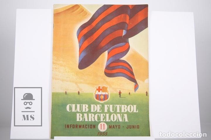 BOLETÍN CLUB DE FÚTBOL BARCELONA - Nº 11 - MAYO DE 1955 (Coleccionismo Deportivo - Revistas y Periódicos - otros Fútbol)