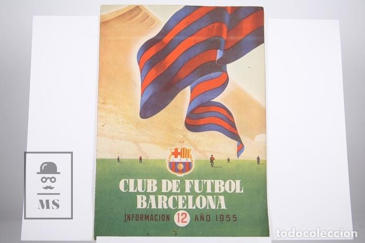 BOLETÍN CLUB DE FÚTBOL BARCELONA - Nº 12 - AÑO 1955 (Coleccionismo Deportivo - Revistas y Periódicos - otros Fútbol)