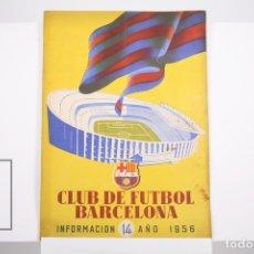 Coleccionismo deportivo: BOLETÍN CLUB DE FÚTBOL BARCELONA - Nº 14 - AÑO 1956. Lote 165354045