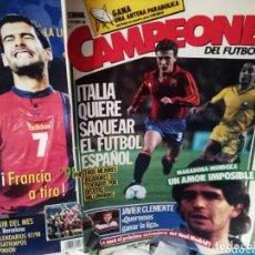 Coleccionismo deportivo: REVISTA ANTIGUA CAMPEONES 1986. FÚTBOL. MENSUAL. NÚMERO 1. Lote 165408694