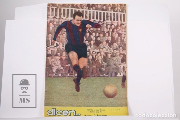 REVISTA / PUBLICACIÓN DE FÚTBOL - DICEN Nº 183 AÑO 1956 - MANDI F.C BARCELONA (Coleccionismo Deportivo - Revistas y Periódicos - otros Fútbol)
