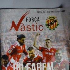 Coleccionismo deportivo: REVISA NUM.37 DE 2019 FUTBOL NASTIC TARRAGONA -72 PAG. FOTOS-ARTICULOS-PUBLICIDAD. Lote 165679202
