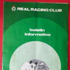 Coleccionismo deportivo: REAL RACING CLUB DE SANTANDER - BOLETÍN INFORMATIVO N° 6 (ENERO 1975). Lote 165738550