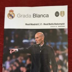 Coleccionismo deportivo: REVISTA PROGRAMA GRADA BLANCA REAL MADRID BETIS LIGA TEMPORADA 2018 2019 POSTER SERGIO RAMOS. Lote 171676427
