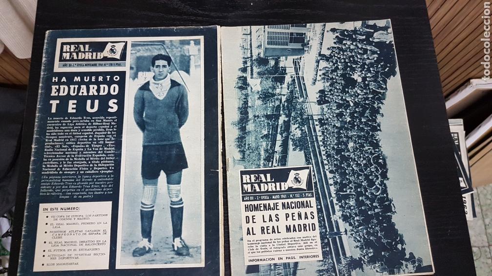 REVISTAS OFICIAL REAL MADRID 1961 (Coleccionismo Deportivo - Revistas y Periódicos - otros Fútbol)