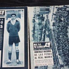 Coleccionismo deportivo: REVISTAS OFICIAL REAL MADRID 1961. Lote 166022116