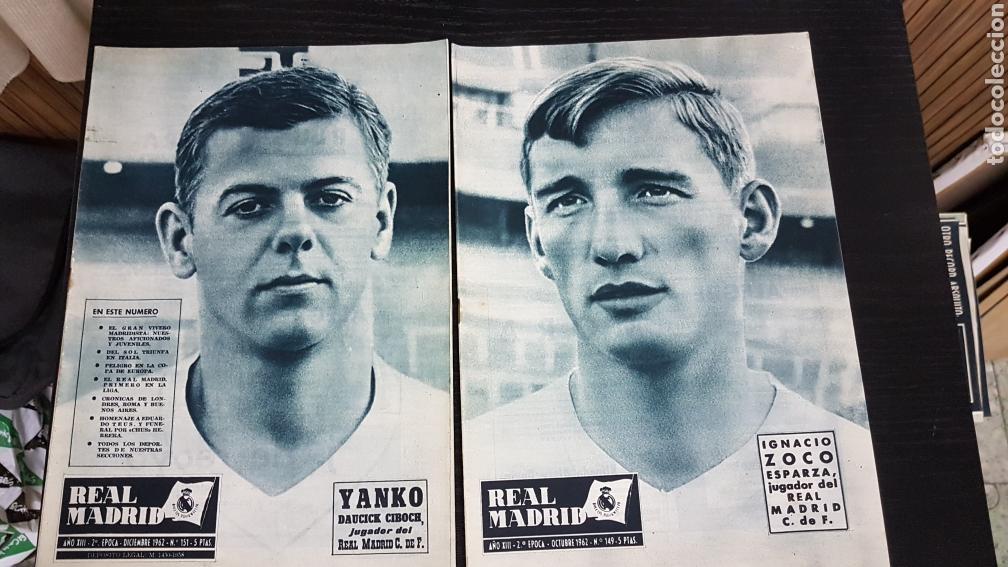 REVISTAS OFICIAL REAL MADRID 1962 (Coleccionismo Deportivo - Revistas y Periódicos - otros Fútbol)