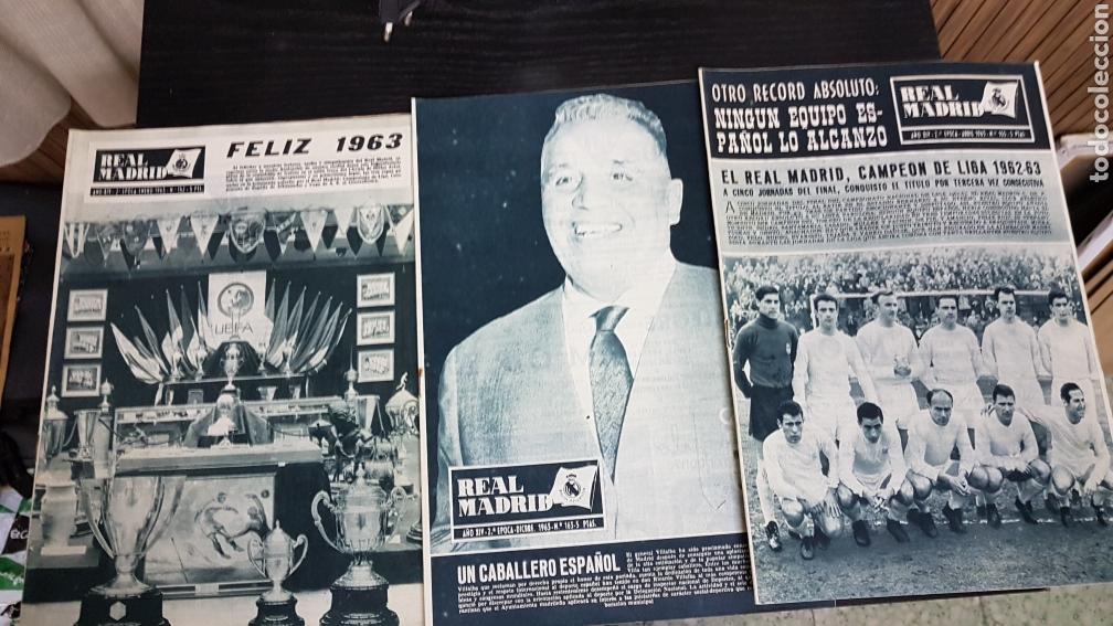 Coleccionismo deportivo: Revistas oficial Real Madrid 1963 - Foto 2 - 166023100