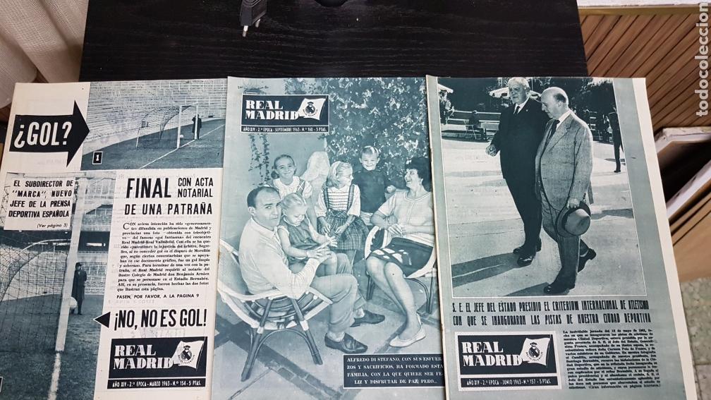 REVISTAS OFICIAL REAL MADRID 1963 (Coleccionismo Deportivo - Revistas y Periódicos - otros Fútbol)
