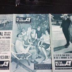 Coleccionismo deportivo: REVISTAS OFICIAL REAL MADRID 1963. Lote 166023100
