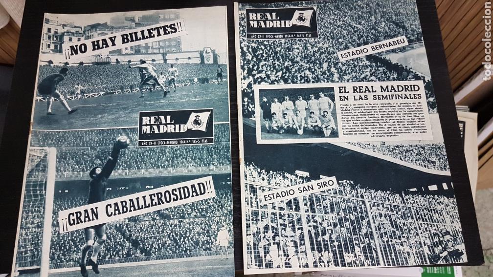 Coleccionismo deportivo: Revistas oficial Real Madrid 1964 - Foto 2 - 166023472