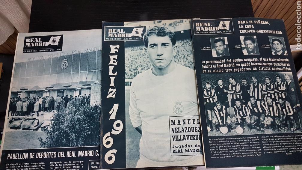 Coleccionismo deportivo: Revistas oficial Real Madrid 1966 - Foto 2 - 166024578