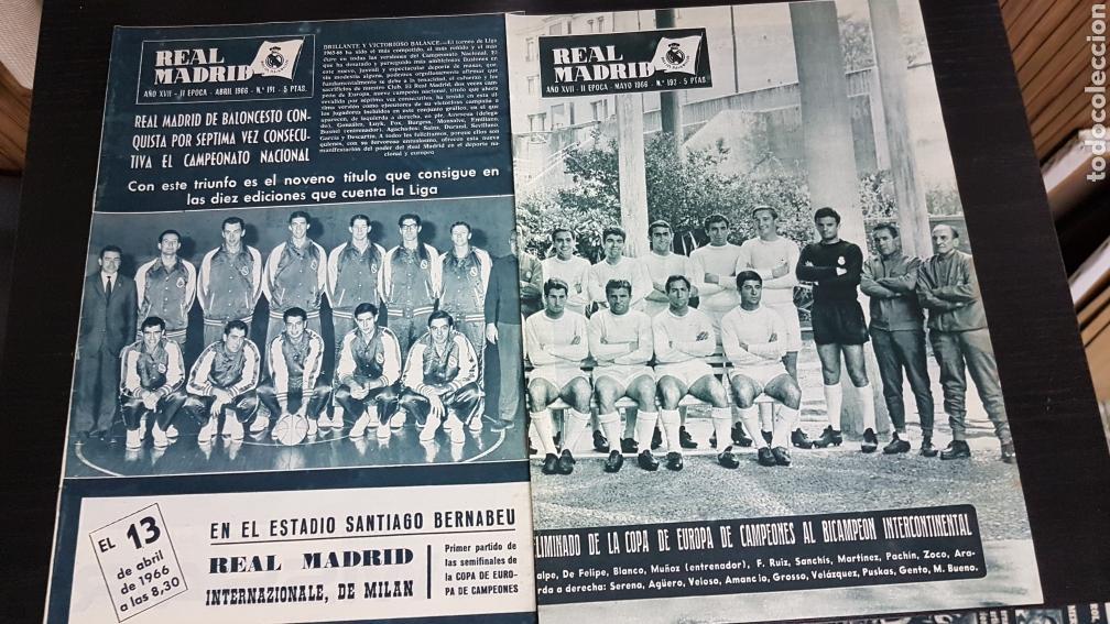 REVISTAS OFICIAL REAL MADRID 1966 (Coleccionismo Deportivo - Revistas y Periódicos - otros Fútbol)