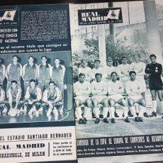 Coleccionismo deportivo: REVISTAS OFICIAL REAL MADRID 1966. Lote 166024578