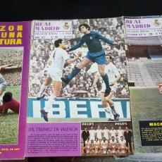 Coleccionismo deportivo: REVISTAS OFICIAL REAL MADRID 1971 Y 1972. Lote 166025437