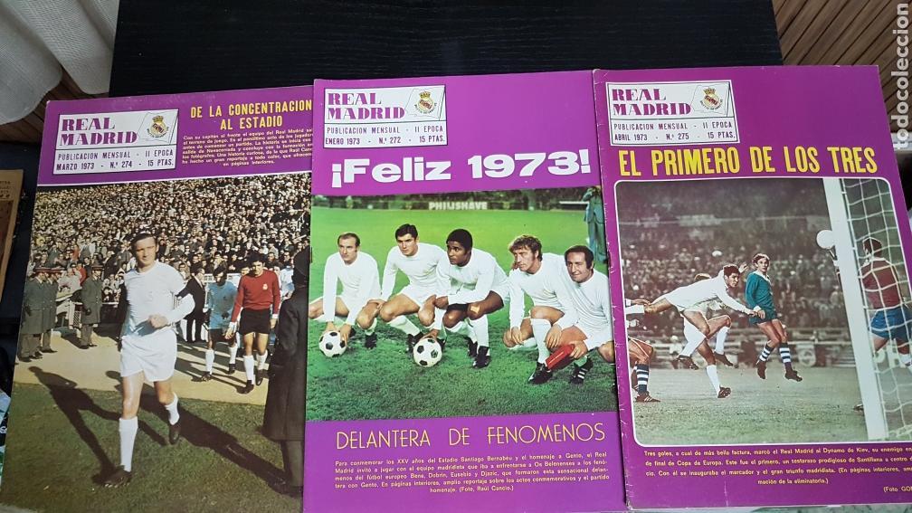Coleccionismo deportivo: Revistas oficial Real Madrid 1973 - Foto 2 - 166025785