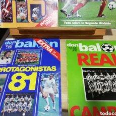 Coleccionismo deportivo: REVISTAS FUTBOL ANTIGUAS AÑOS 80 . EDITORIAL DON BALON. Lote 166095706