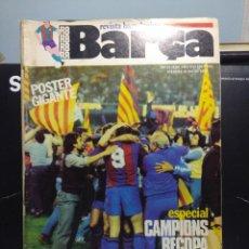 Coleccionismo deportivo: REVISTA BARCELONISTA BARÇA : ESPECIAL CAMPIONS RECOPA ( CON POSTER ) 1982. Lote 166825762