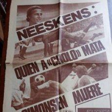 Coleccionismo deportivo: NEESKENS - SIMONSEN - RECORTE PRENSA - 2 PAG - BARÇA - FUTBOL CLUB BARCELONA. Lote 167050940